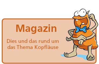 Button mit Comic-Laus: Magazin